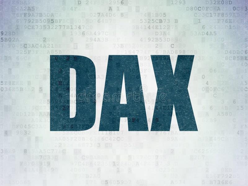 El mercado de acción pone en un índice concepto: DAX en datos digitales empapelan el fondo ilustración del vector