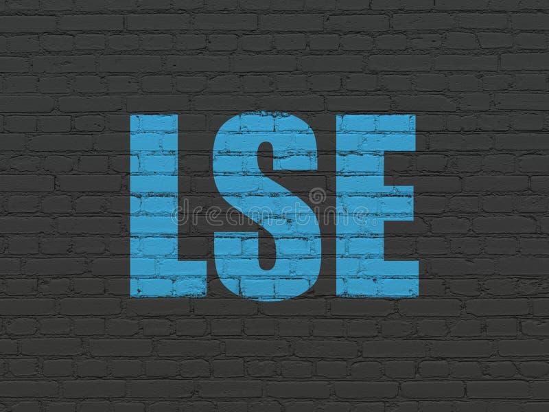 El mercado de acción pone en un índice concepto: LSE en fondo de la pared stock de ilustración