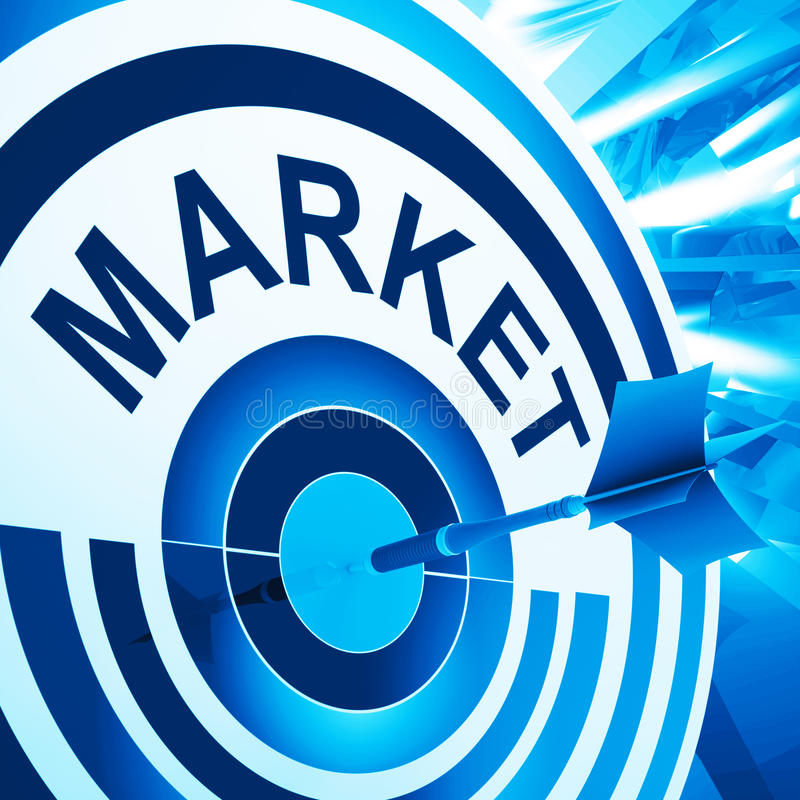 El mercado de blanco significa la publicidad apuntada consumidor libre illustration