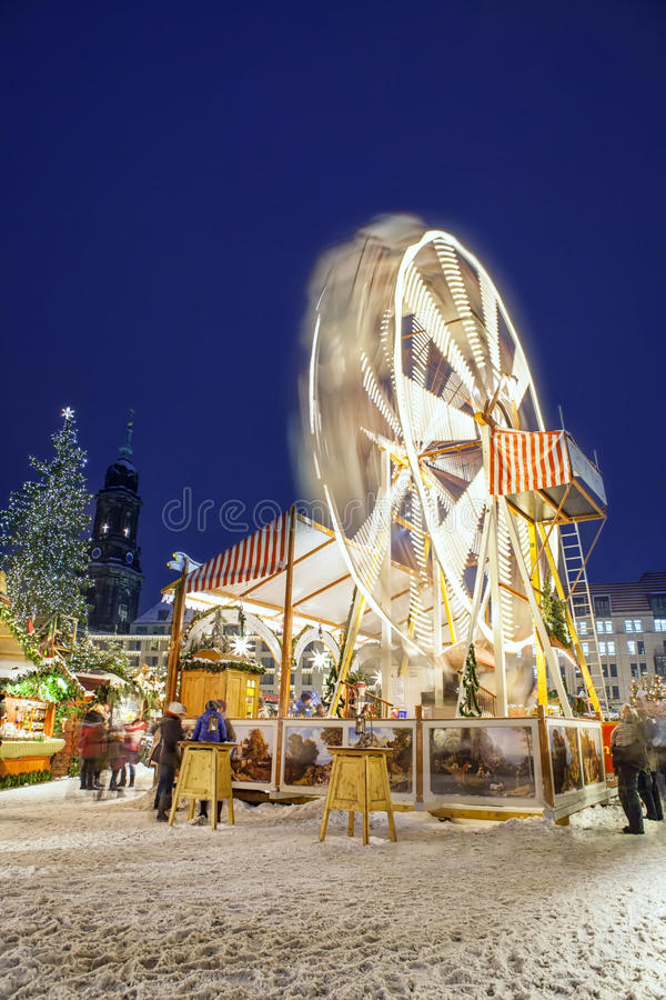 Mercado de la Navidad en Dresden fotografía de archivo