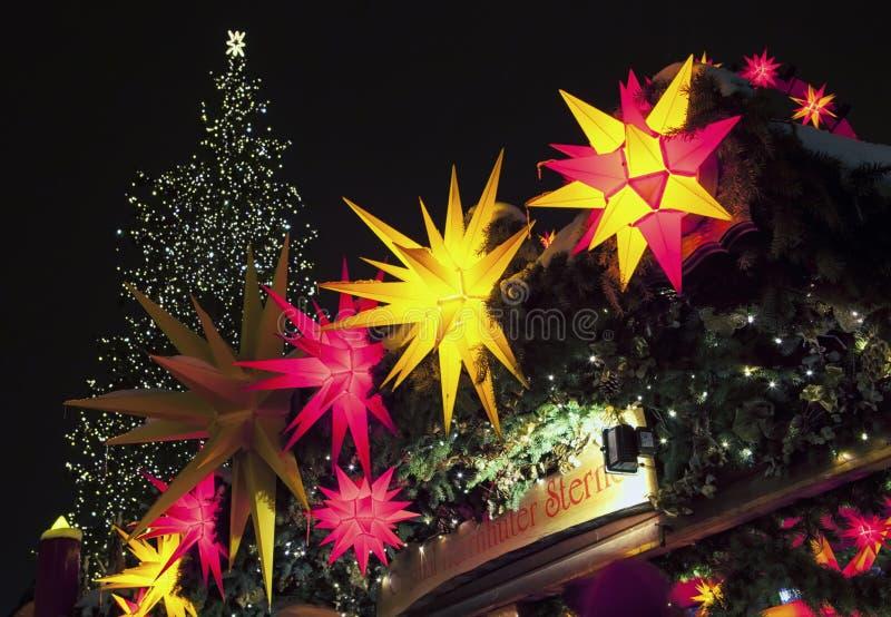 Mercado de la Navidad en Dresden foto de archivo libre de regalías