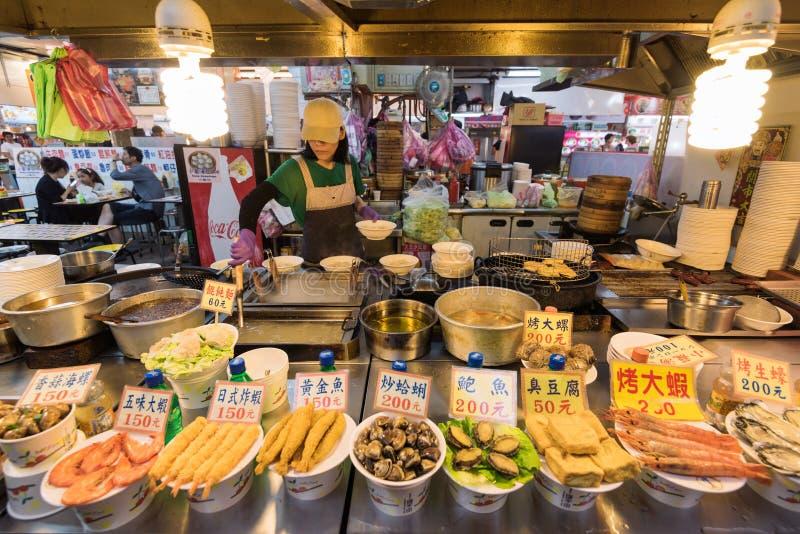 El mercado de la noche de Shilin en Taipei, Taiwán fotos de archivo libres de regalías