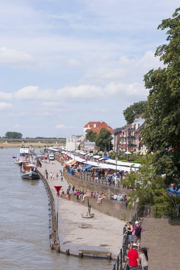 El mercado del libro de Deventer en los Países Bajos el 3 de agosto de 2014 fotos de archivo
