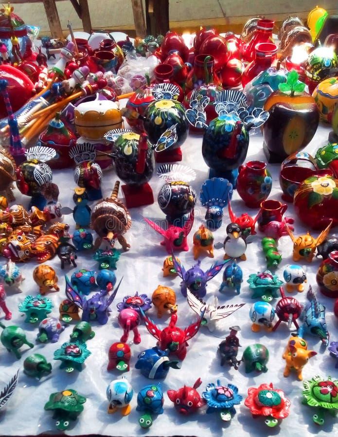 El Mercado i Quetzala, Guerrero i Mexico royaltyfria bilder