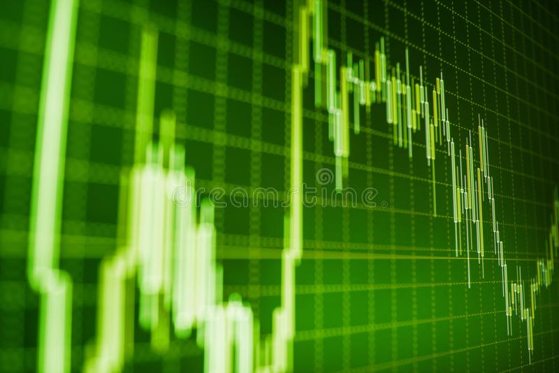 El mercado o el gráfico y la palmatoria comerciales de las divisas trazan conveniente para el concepto de la inversión financiera foto de archivo