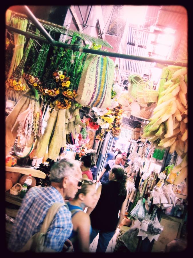 El Mercado in San José Costa Rica. A tourist snapshot of a marketplace filled with goods and people in San José, Costa Rica stock images