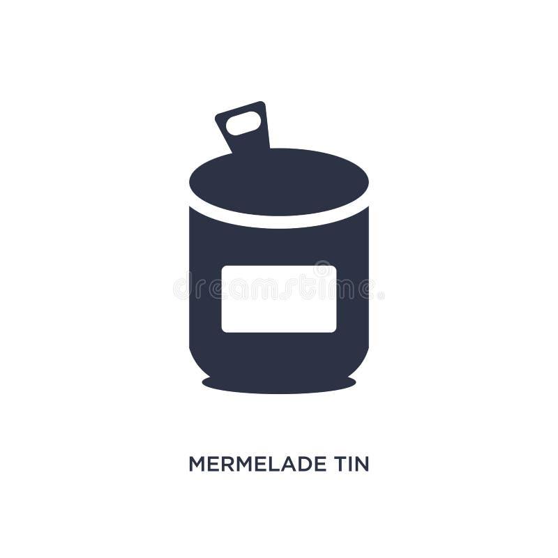el mermelade estaña el icono en el fondo blanco Ejemplo simple del elemento del concepto de los bistros y del restaurante stock de ilustración