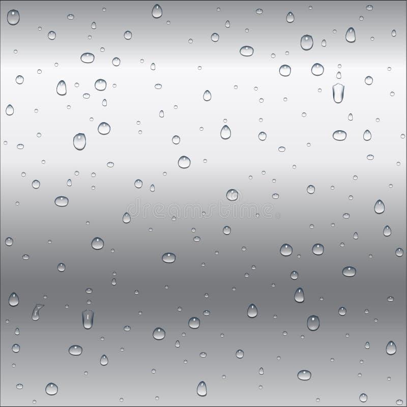 El metal blanco y gris abstracto (aluminio, plata, acero) gradien ilustración del vector