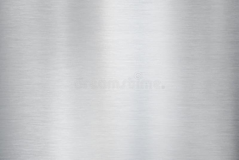 El metal cepilló la textura o el fondo de aluminio fotos de archivo