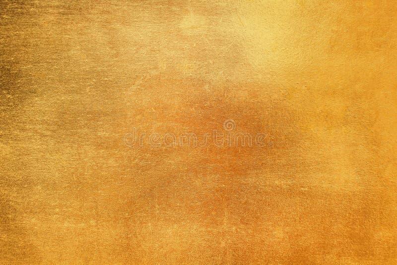 El metal de cobre amarillo en modelos del grunge texturiza abstracto para el fondo foto de archivo libre de regalías