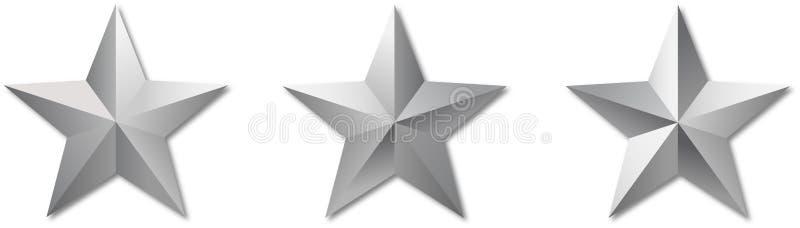 El metal refleja las estrellas militar stock de ilustración