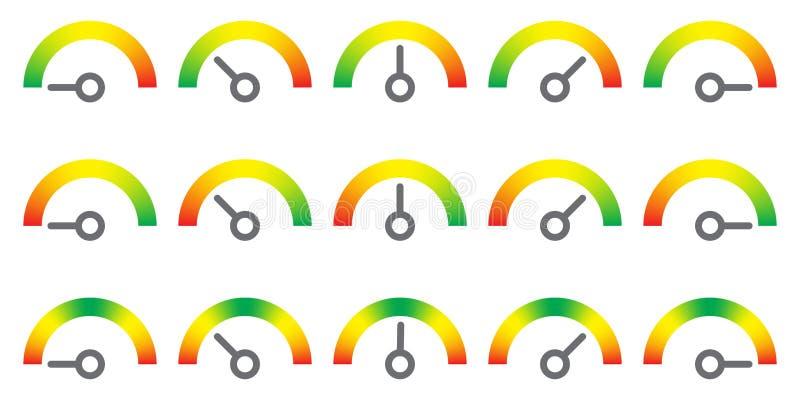 El metro firma el elemento infographic del indicador stock de ilustración