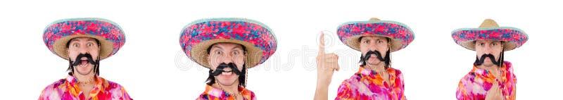 El mexicano divertido con el sombrero del sombrero fotografía de archivo libre de regalías
