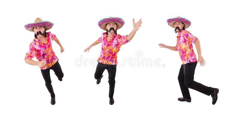 El mexicano divertido con el sombrero en concepto fotos de archivo