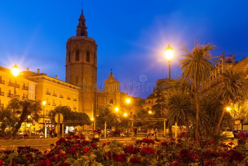 El Micalet i katedra. Walencja, Hiszpania zdjęcia royalty free