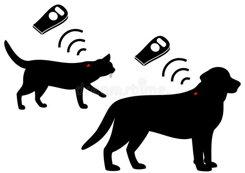 El microchip del animal doméstico libre illustration
