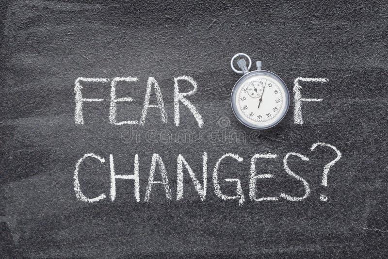 El miedo de cambios mira foto de archivo
