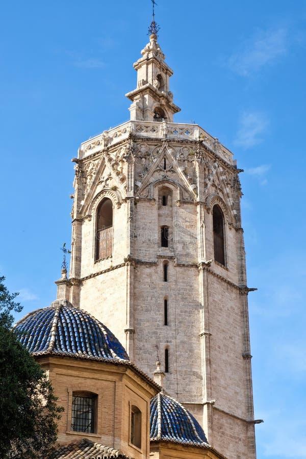 EL Miguelete, la tour de cloche gothique de Valencia Cathedral photographie stock libre de droits