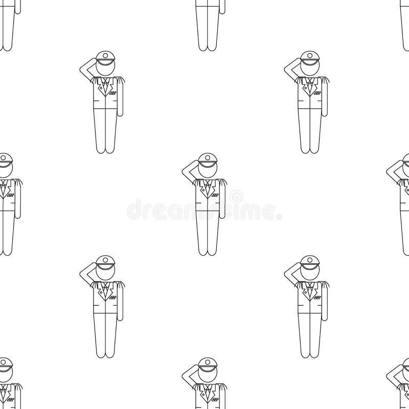 el militar da el icono del honor Elemento del icono del ejército para los apps móviles del concepto y del web La repetición del m libre illustration