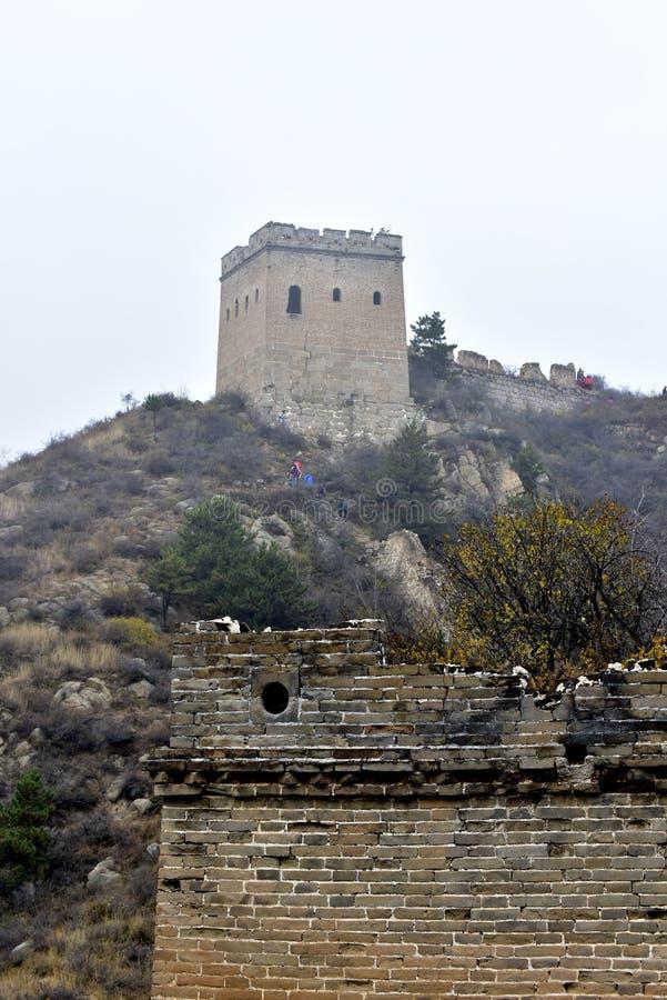 El Ming la Gran Muralla en Laiyuan foto de archivo