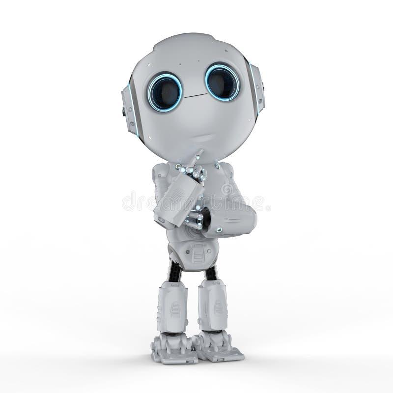 El mini robot piensa stock de ilustración