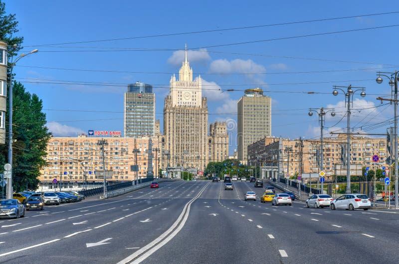 El Ministerio de Asuntos Exteriores buiding - Mosc?, Rusia foto de archivo libre de regalías