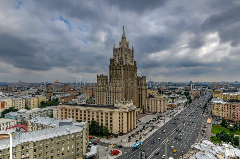 El Ministerio de Asuntos Exteriores buiding - Mosc?, Rusia imagen de archivo libre de regalías