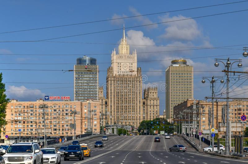 El Ministerio de Asuntos Exteriores buiding - Mosc?, Rusia imagenes de archivo