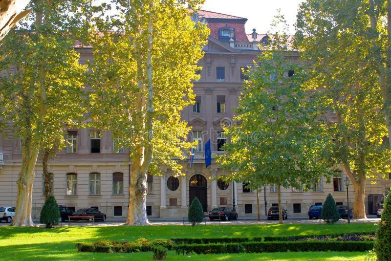 El Ministerio de Asuntos Exteriores de la fachada de Croacia de la república imagenes de archivo