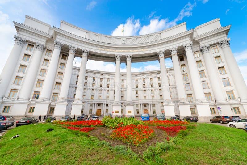 El Ministerio de Asuntos Exteriores del edificio de Ucrania fotografía de archivo