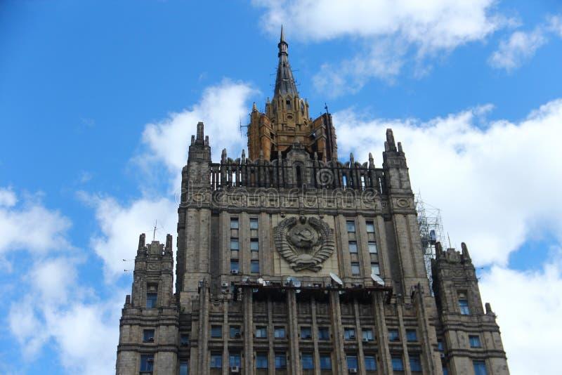 El Ministerio de Asuntos Exteriores del edificio principal de Rusia imágenes de archivo libres de regalías