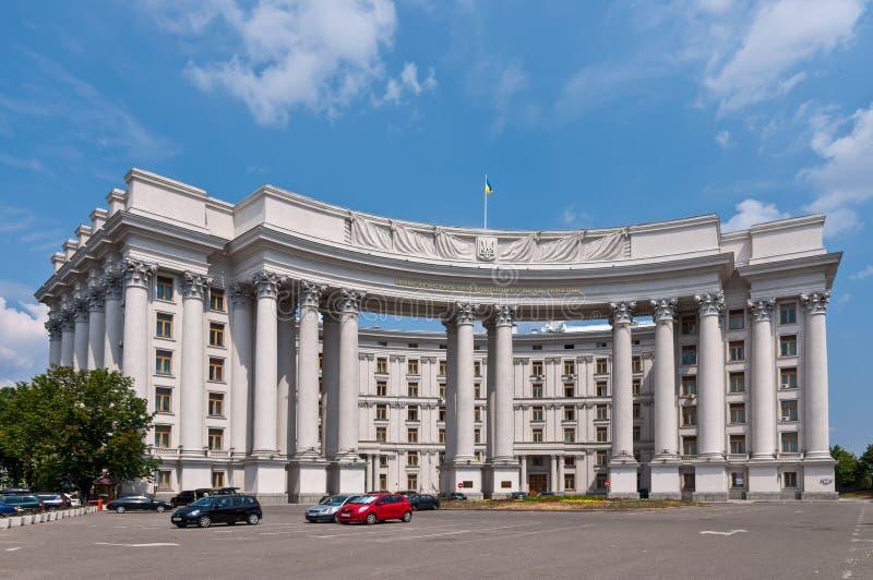 El Ministerio de Asuntos Exteriores en Kiev, Ucrania imagenes de archivo