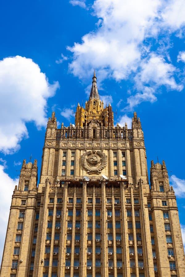 El Ministerio de Asuntos Exteriores famoso del rascacielos de Stalin de Rusia fotos de archivo libres de regalías