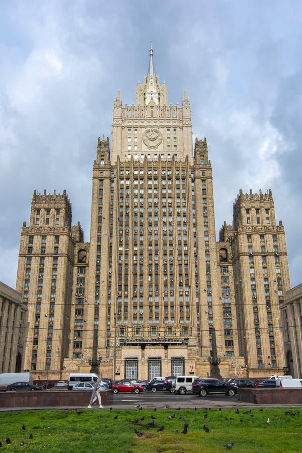 El Ministerio de Asuntos Exteriores, Moscú, Rusia fotos de archivo libres de regalías