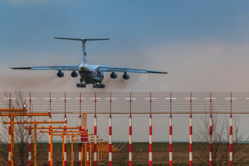 El ministerio de Ilushin Il-76 TD de las situaciones de emergencia de la Federación Rusa foto de archivo