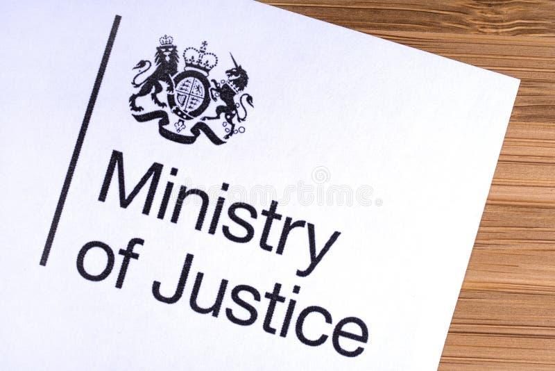 El ministerio de la justicia BRIT?NICO foto de archivo libre de regalías