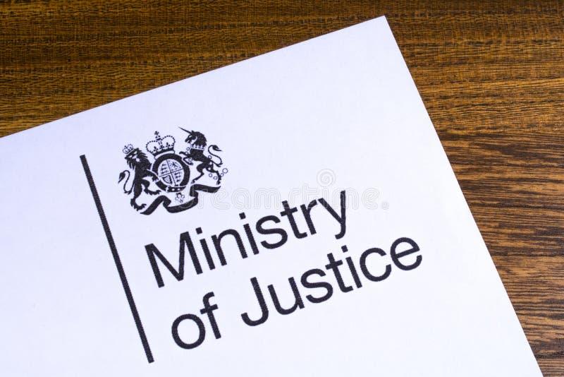 El ministerio de la justicia BRIT?NICO foto de archivo