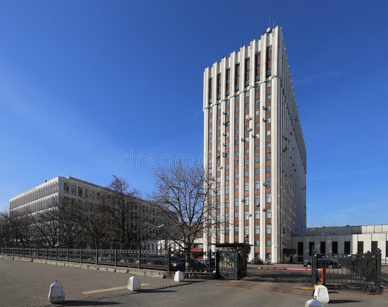 El ministerio de la justicia de la Federación Rusa St 14, Moscú, Rusia de Zhitnaya imagen de archivo