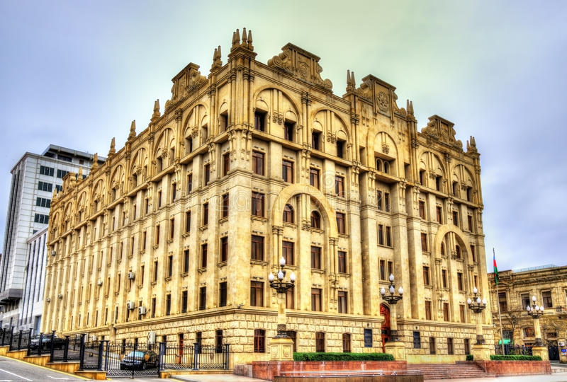 El ministerio de los asuntos internos que construyen en Baku fotos de archivo libres de regalías