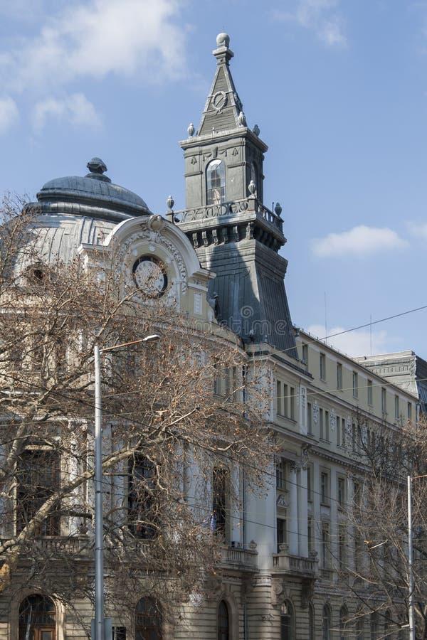 El ministerio del edificio de la agricultura en el centro de la ciudad de Sofía, Bulgaria imagenes de archivo