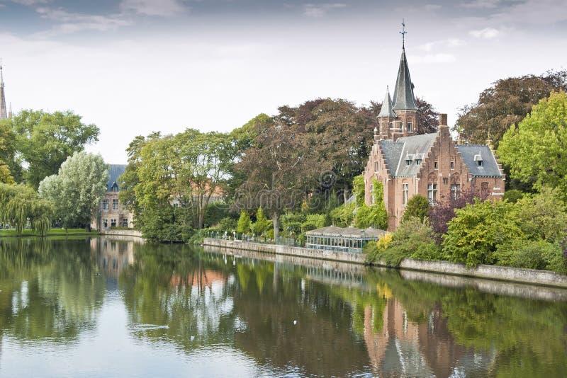 El Minnewater, Brugges fotografía de archivo