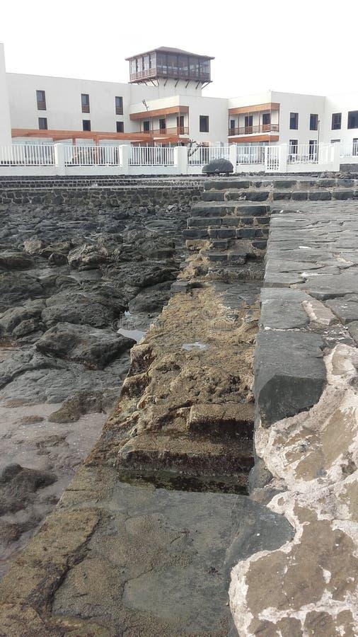 EL Mirador, Blanca d'hôtel de Playa à Fuerteventura, Canarias photographie stock libre de droits