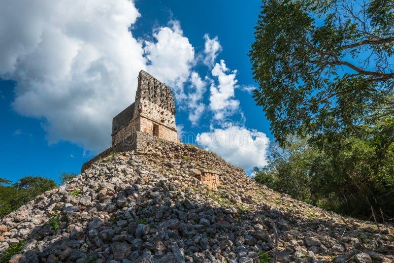 El Mirador mayan pyramid, Labna ruins, Yucatan, Mexico. El Mirador mayan ancient pyramid, Labna ruins, Yucatan, Mexico stock photos