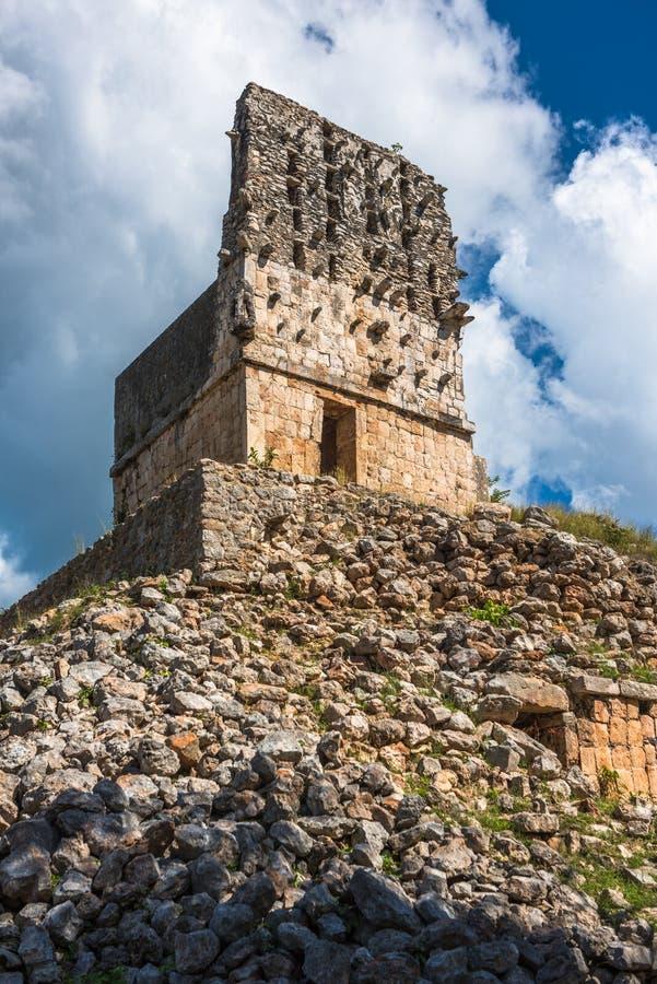 El Mirador mayan pyramid, Labna ruins, Yucatan, Mexico. Image of El Mirador mayan pyramid, Labna ruins, Yucatan, Mexico stock photography