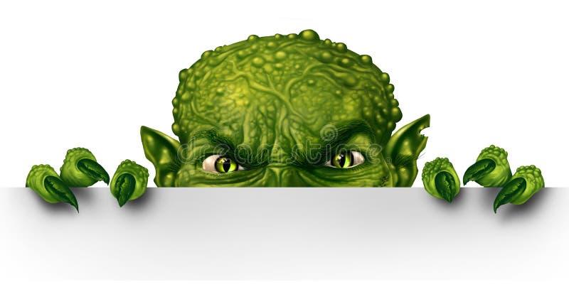 El mirar a escondidas del monstruo libre illustration