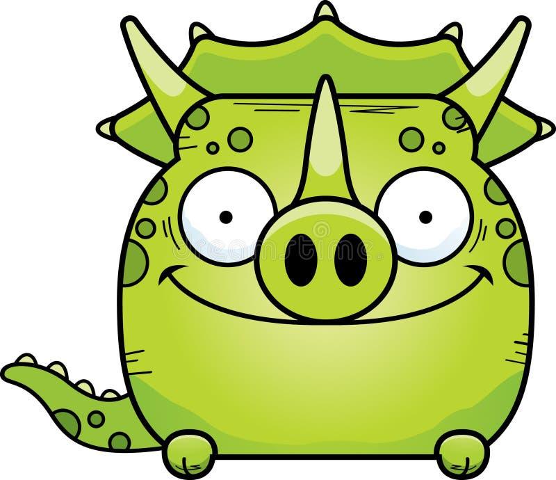 El mirar a escondidas del Triceratops de la historieta stock de ilustración