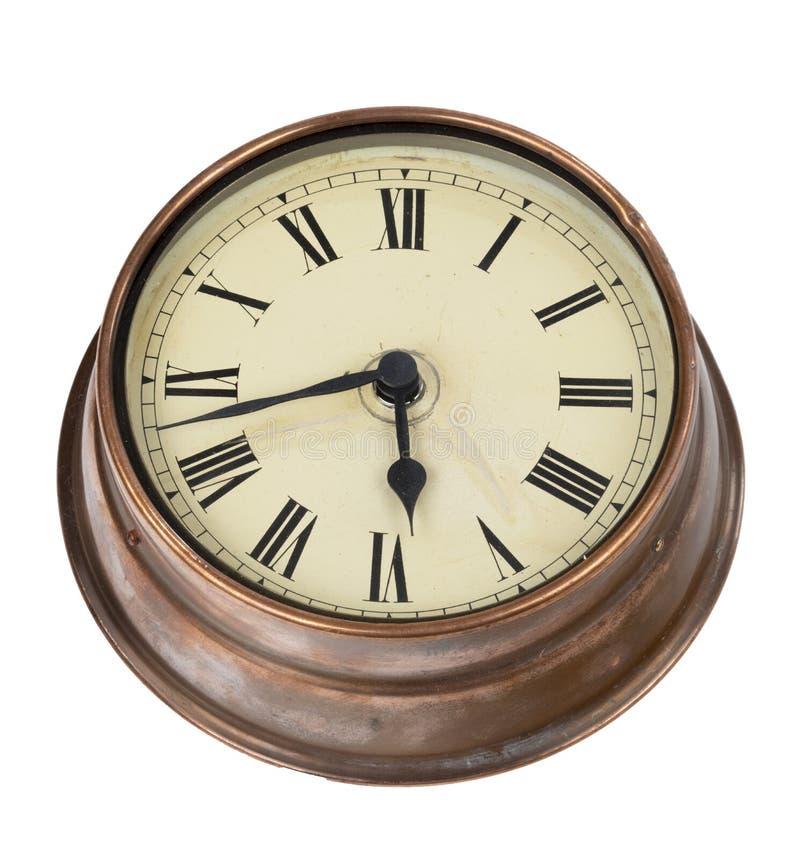 El mirar para arriba el reloj de pared viejo imágenes de archivo libres de regalías