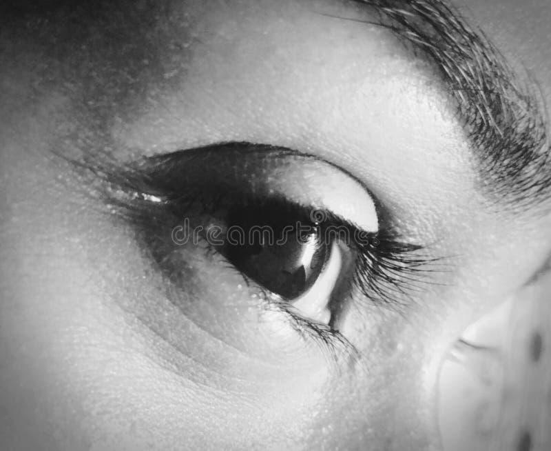 El misterio en ella ojos fotos de archivo libres de regalías