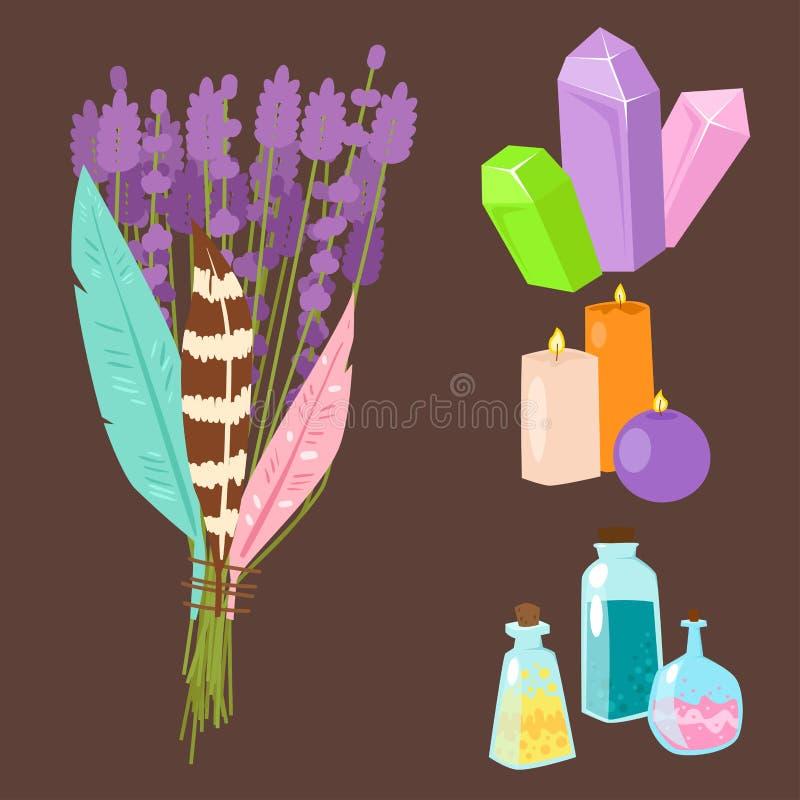 El misterio mágico especial del carnaval de la fantasía del mago del símbolo equipa el ejemplo del vector de la decoración del mi stock de ilustración