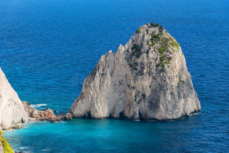 El Mizithres, pequeño y grande Formaciones de roca asombrosas en el cabo de Keri, isla de Zakynthos Grecia foto de archivo